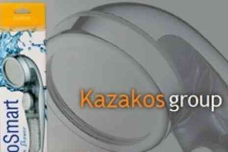 Kazakos Group - Clear or Blue EcoSmart Aroma Shower Head - Save 70%