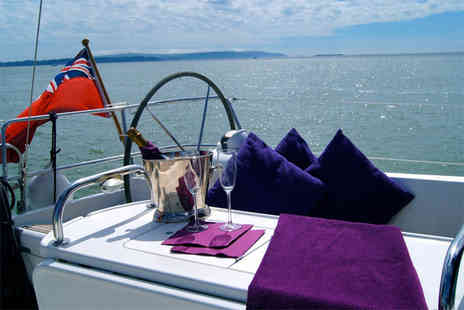Escape Yachting - Half day Solent sailing trip including 2 course meal & Champagne - Save 85%