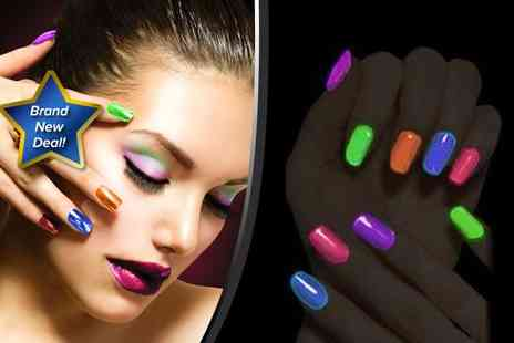 BeautyFit -Five fluorescent glow in the dark neon nail polishes - Save 80%
