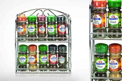 Mahahome.com - Spice Rack With Ten Schwartz Spices - Save 53%