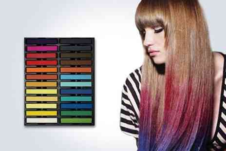 Merchtopia -  24 pack of coloured hair chalk - Save 82%