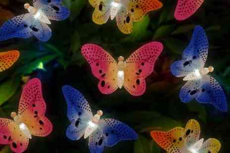 Mahahome.com - Solar Garden Lights in Butterfly or Dragonfly Design - Save 40%