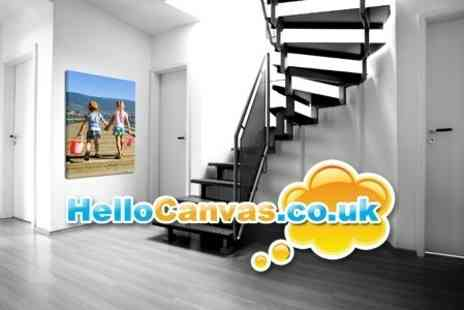 Hello Canvas - £28 for a £75 Voucher Towards Professional Photo Prints on a 60x80cm or 24x32inch Canvas - Save 63%