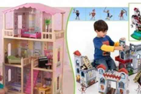 Kids Playstore.com - KidKraft Sweet and Sunny Dollhouse or Fun Explorer Castle Play Set - Save 60%