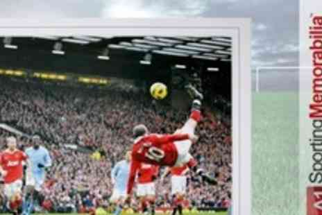 A1 Sporting Memorabilia - Limited Edition Signed Print of Wayne Rooneys Goal - Save 60%