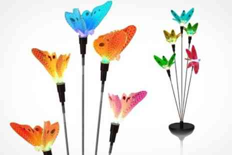 Mahahome.com - Solar Dragonfly or Butterfly Lights - Save 35%