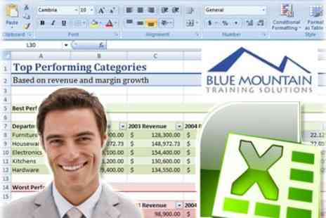 Blue Mountain Training Solutions - Excel Master Training Package - Save 91%
