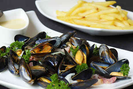 The Windsor Hotel - Moules mariniere with French fries & glass of bubbly for two - Save 63%