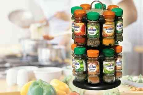 Mahahome.com - Rotating Spice Rack With 16 Schwartz Spices - Save 60%