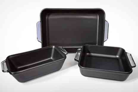 Mahahome.com - Anchor Three Piece Non Stick Bakeware Set - Save 53%