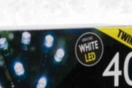 Xmas Decorations Car Boot  - 40 Twinkle White LED Lights - Save 50%