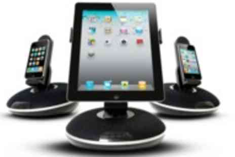 Velocity Outlet - 3 in 1speaker dock for iPad iPhone & iPod in black  - Save 70%