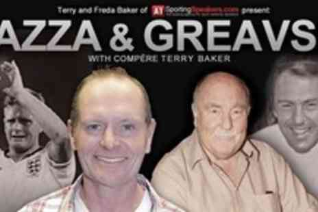 A1 Sporting Memorabilia - Two VIP Tickets For Audience With Gazza and Greavsie Including Signed Jimmy Greaves Print - Save 50%