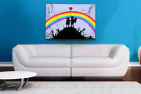 Banksy Canvas Print - Rainbow Warriors Canvas Print - Save 50%