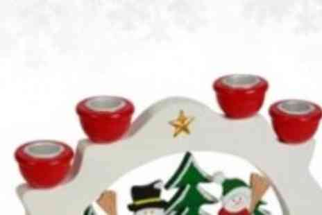 Xmas Decorations Car Boot  - Snowman Candles Holder - Save 50%