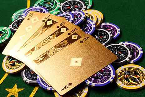 Camelot Goods - 24K Gold Foil Plated Playing Cards - Save 55%