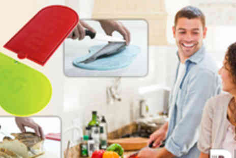 Seriously Functional - The Big Chopper Set of 4 Fun Hygienic Chopping Boards - Save 53%