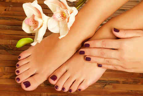 Chaps & Dames - Shellac Manicure and Deluxe Pedicure - Save 55%