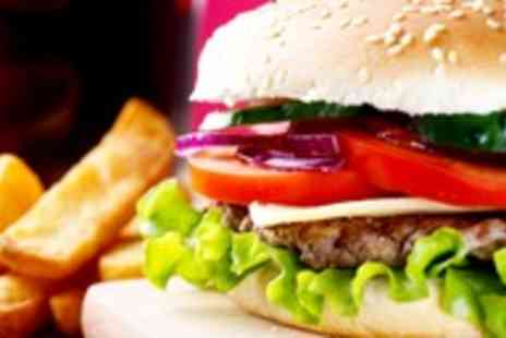 Atlas Cafe Bar - Any two gourmet burgers sides & drinks - Save 52%