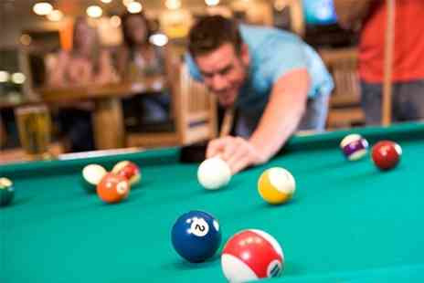 Rileys SPORTS Bar - Two Hours of Pool or Snooker Plus Burger and Annual Membership For Two - Save 70%
