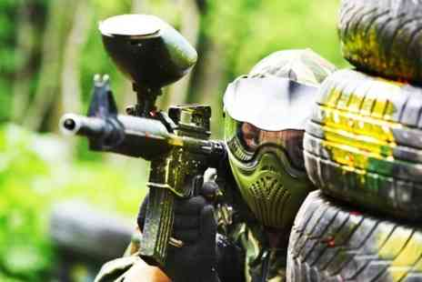 A.K Paintball - Paintball with Lunch For Five With 100 Paintballs Each - Save 94%