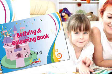 Star Stories - Personalised Activity Books keep your little one entertained - Save 50%