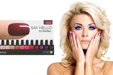 UniKiss - Full Set Of Shellac Or Gel Nails - Save 44%