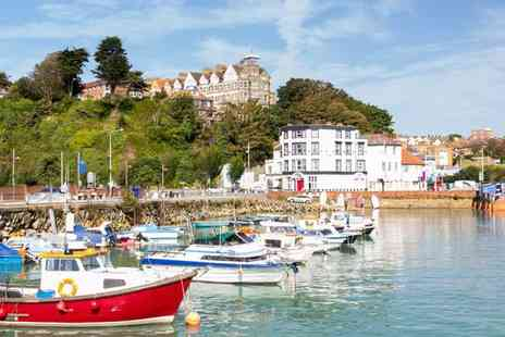 Grand Burstin Hotel - Two Night Folkestone Break for Two including Three Course Carvery Meals, Breakfasts and a Bottle of Wine - Save 29%