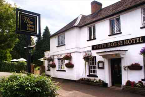 White Horse Hotel - Georgian Hertfordshire Inn with Meals & Fizz - Save 56%