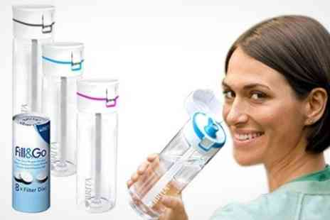 Mahahome.com - Brita Fill and Go Water Bottle Plus Filters - Save 50%