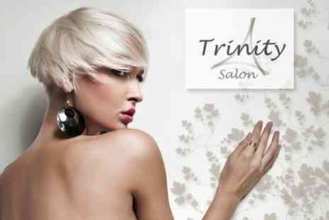 Trinity Salon - Half Head of Highlightsor Full Head of Colour With Cut and Finish for £32.60 - Save 60%