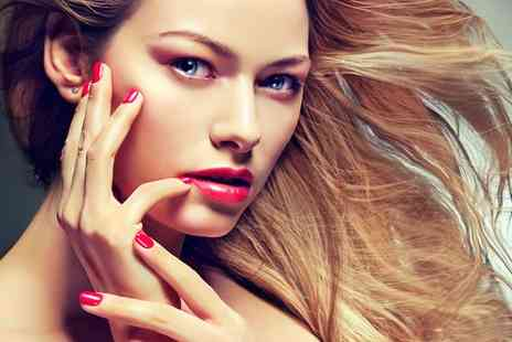 Marias Hair and Beauty - Gorgeous Shellac manicure and pedicure - Save 50%