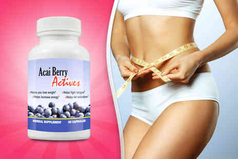 Beauty & Slimming - Dottle of 60 acai berry capsules - Save 73%