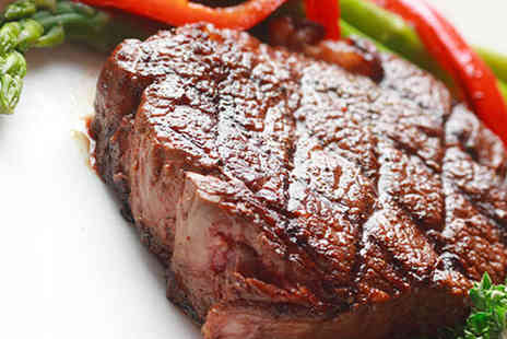 Cafe Med - Matured Sirloin Steak with Chips Salad or Vegetables for Two - Save 54%