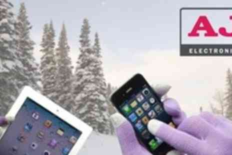 AJ Electronics - Two Pairs of Winter Touch Gloves For Touch Screens - Save 44%