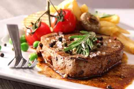The Living Room Newcastle - Steak Meal For Two or Four With Wine and Dessert - Save 57%