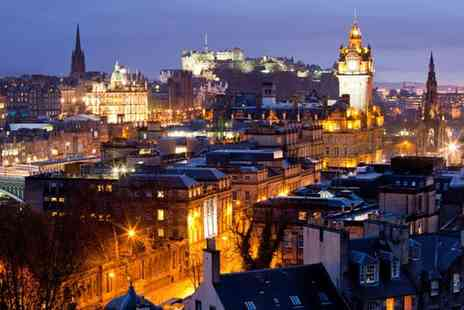 Britannia Hotel Edinburgh - One Night central Edinburgh break for 2 including breakfast, a bottle of wine on arrival - Save 69%