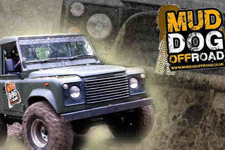 Mud Dog Off Road - 4x4 Land Rover Defender Experience Day - Save 64%