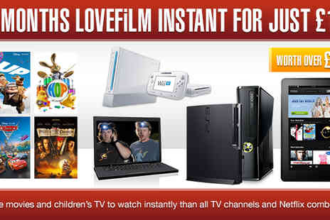 LOVEFILM - Instant Unlimited Streaming for 6 Months - Save 67%