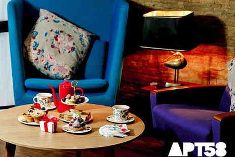 Apartment 58 - Champagne Afternoon Tea for Two - Save 58%