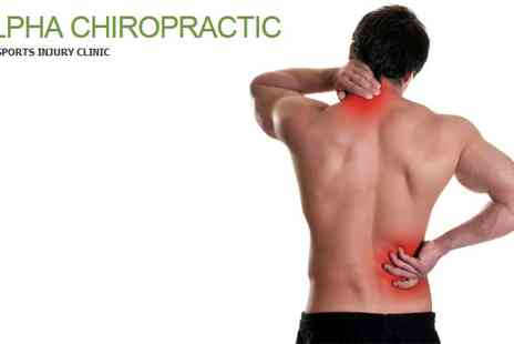 Alpha Chiropractic - Chiropractor consultation and follow up treatment - Save 56%