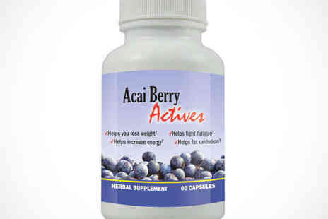 BeautyandSlimming.co.uk - Tub of 60 Acai Berry Actives Capsules - Save 70%