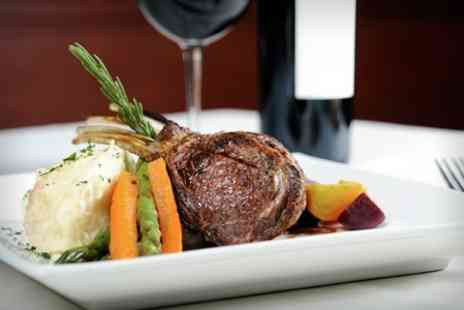 The Green Tree - 10oz Rib Eye Steak With Glass of Wine For Two - Save 50%