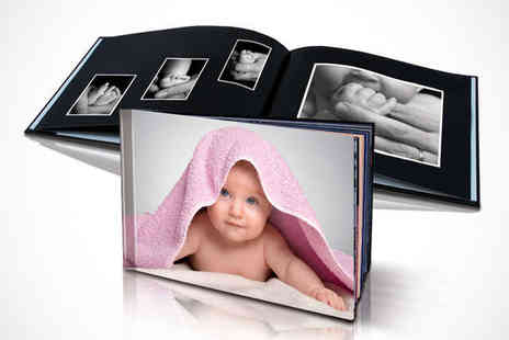 Photo Deals UK - 20 Page Personalised Hard Cover Photo Book - Save 80%