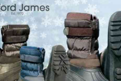 Clifford James - Two Pairs of Unisex Waterproof Winter Boots - Save 75%