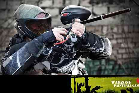 Warzone Paintball - Paintballing with Lunch and Ammo - Save 40%