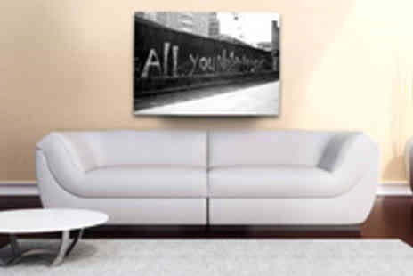 Canvas Town - All You Need Is Love Canvas Print - Save 50%