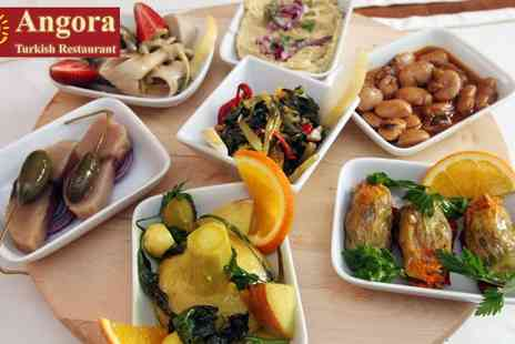 Angora Restaurant - Meze Meal with Tea for Two - Save 66%