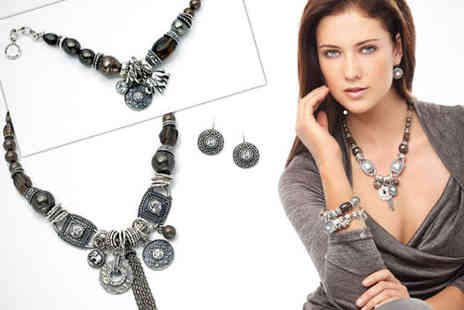 Miglio Designer Jewellery - Earrings and Matching Bracelet - Save 79%