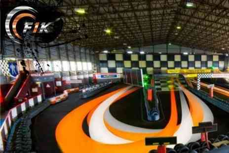 F1K - Fifty Lap Go Karting Experience for £19.50 with Formula 1 Karting (£48 Value) - Save 59%